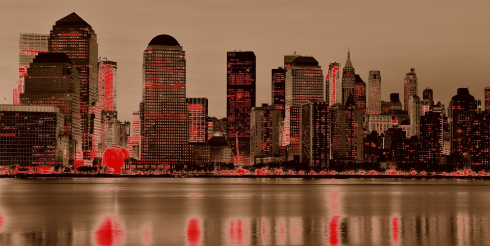 Yann-Deshoulieres-New York-From the sea-By night